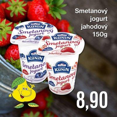 Smetanový jogurt jahodový 150 g