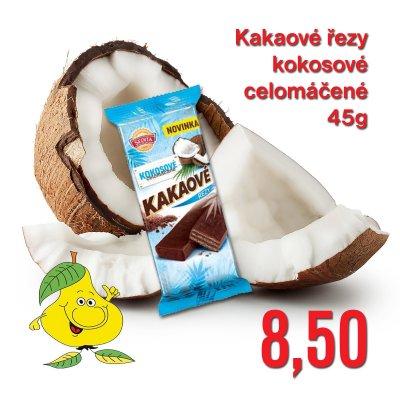 Kakaové řezy kokosové celomáčené 45 g