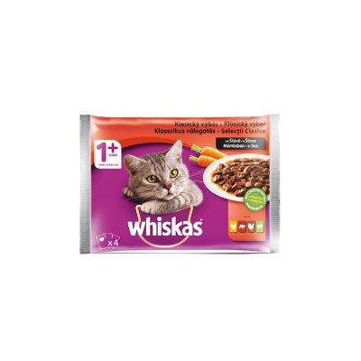 Whiskas kapsička - menu 4 druhy masa 4 x 100 g