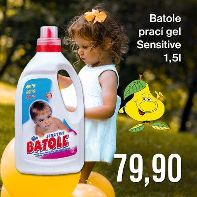 Batole prací gel Sensitive 1,5 l