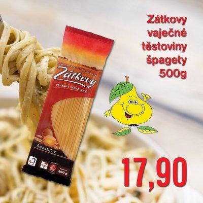 Zátkovy vaječné těstoviny špagety 500 g