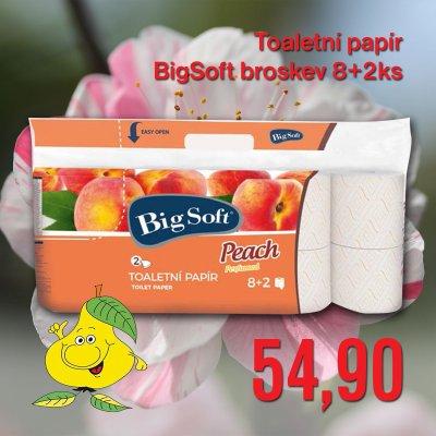 Toaletní papír BigSoft broskev 8 + 2 ks