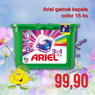 Ariel gelové kapsle color 15 ks