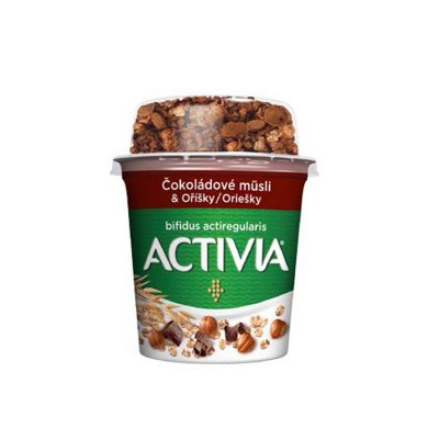 Activia čokoládové müsli a oříšky 170 g