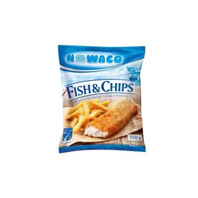 Fish & Chips - obalovaná aljašská treska a hranolky 350 g