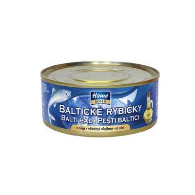 Baltické rybičky v oleji 240 g