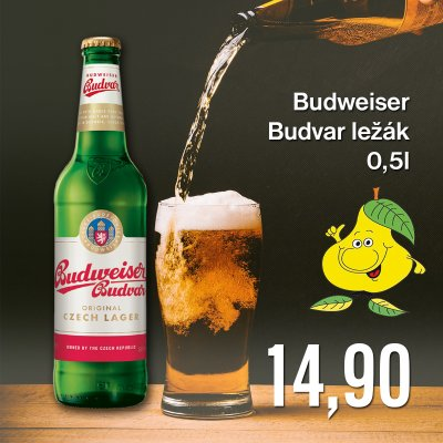 Budweiser Budvar ležák 0,5 l
