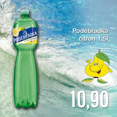 Poděbradka citron 1,5 l