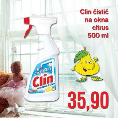 Clin čistič na okna citrus 500 ml