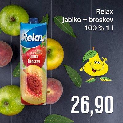 Relax jablko + broskev 100% 1 l