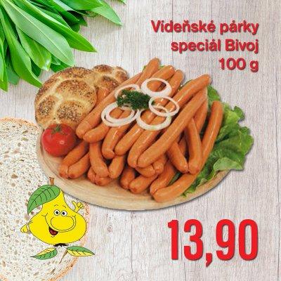 Vídeňské párky speciál Bivoj 100 g