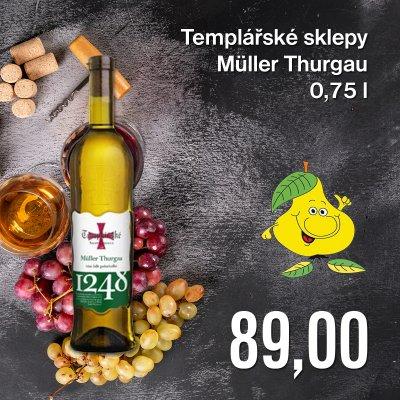 Templářské sklepy Müller Thurgau 0,75 l