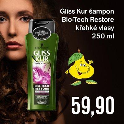 Gliss Kur šampon Bio- Tech Restore křehké vlasy 250 ml