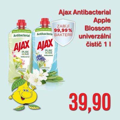 Ajax Antibacterial Apple Blossom univerzální čistič 1 l
