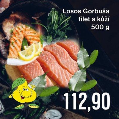 Losos Gorbuša filet s kůží 500 g