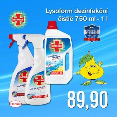 Lysoform dezinfekční čistič 750 ml - 1 l