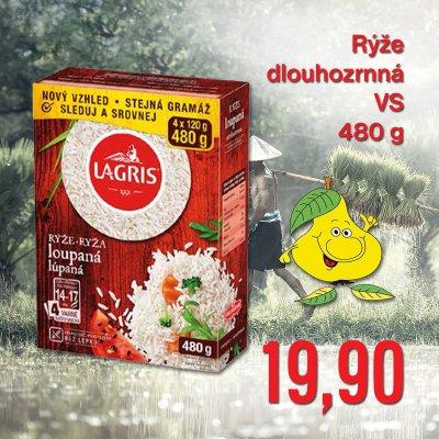 Rýže dlouhozrnná VS 480 g