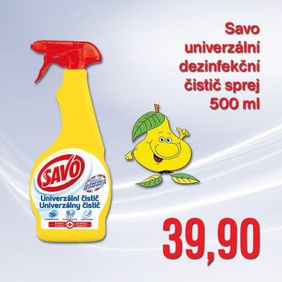 Savo univerzální dezinfekční čistič sprej 500 ml