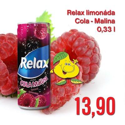 Relax limonáda Cola-Malina 0,33 l