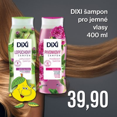 DIXI šampon Pivoňkový pro jemné vlasy 400 ml