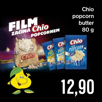 Chio popcorn butter 80 g