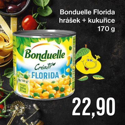 Bonduelle Florida hrášek+kukuřice 170 g