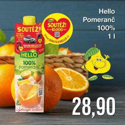 Hello Pomeranč 100% 1 l