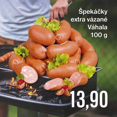 Špekáčky extra vázané Váhala 100 g