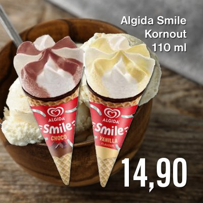 Algida Smile Kornout 110 ml