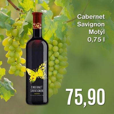 Cabernet Savignon Motýl 0,75 l