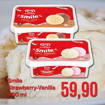 Smile Strawberry - Vanilla 900 ml
