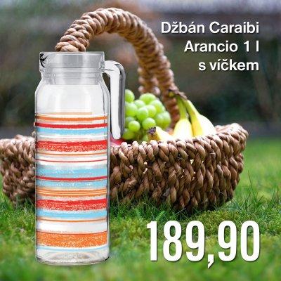 Džbán Caraibi Arancio 1 l s víčkem