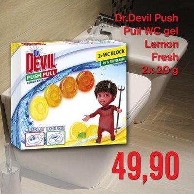Dr.Devil Push Pull WC gel Lemon  Fresh 2 x 20 g