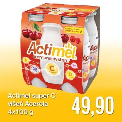 Actimel super C višeň Acerola 4 x 100 g
