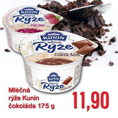 Mléčná rýže Kunín čokoláda 175 g