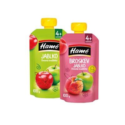 Ovocná svačinka Hamé Broskev 100 g