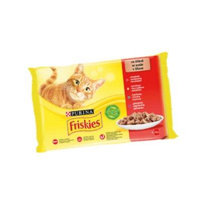 Friskies kapsička pro kočky výběr ve šťávě 4 x 85 g