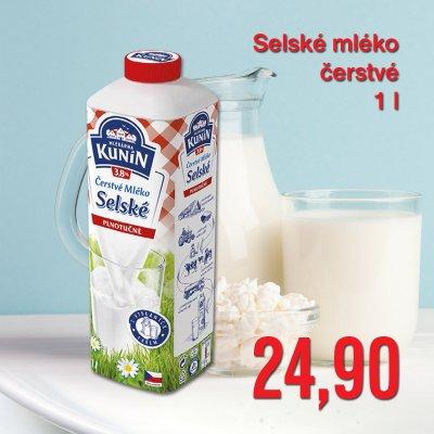 Selské mléko čerstvé 1 l