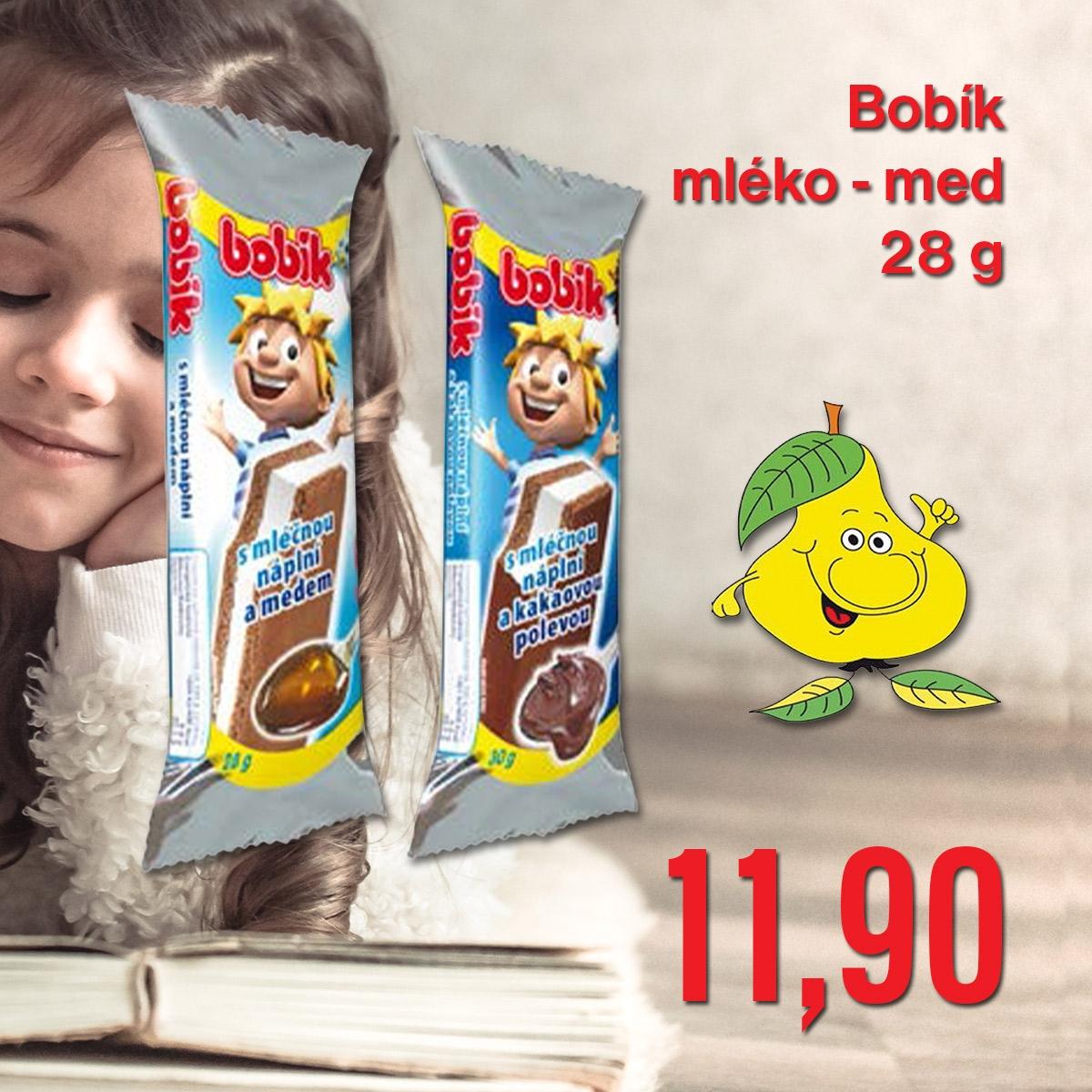 Bobík mléko - med 28 g