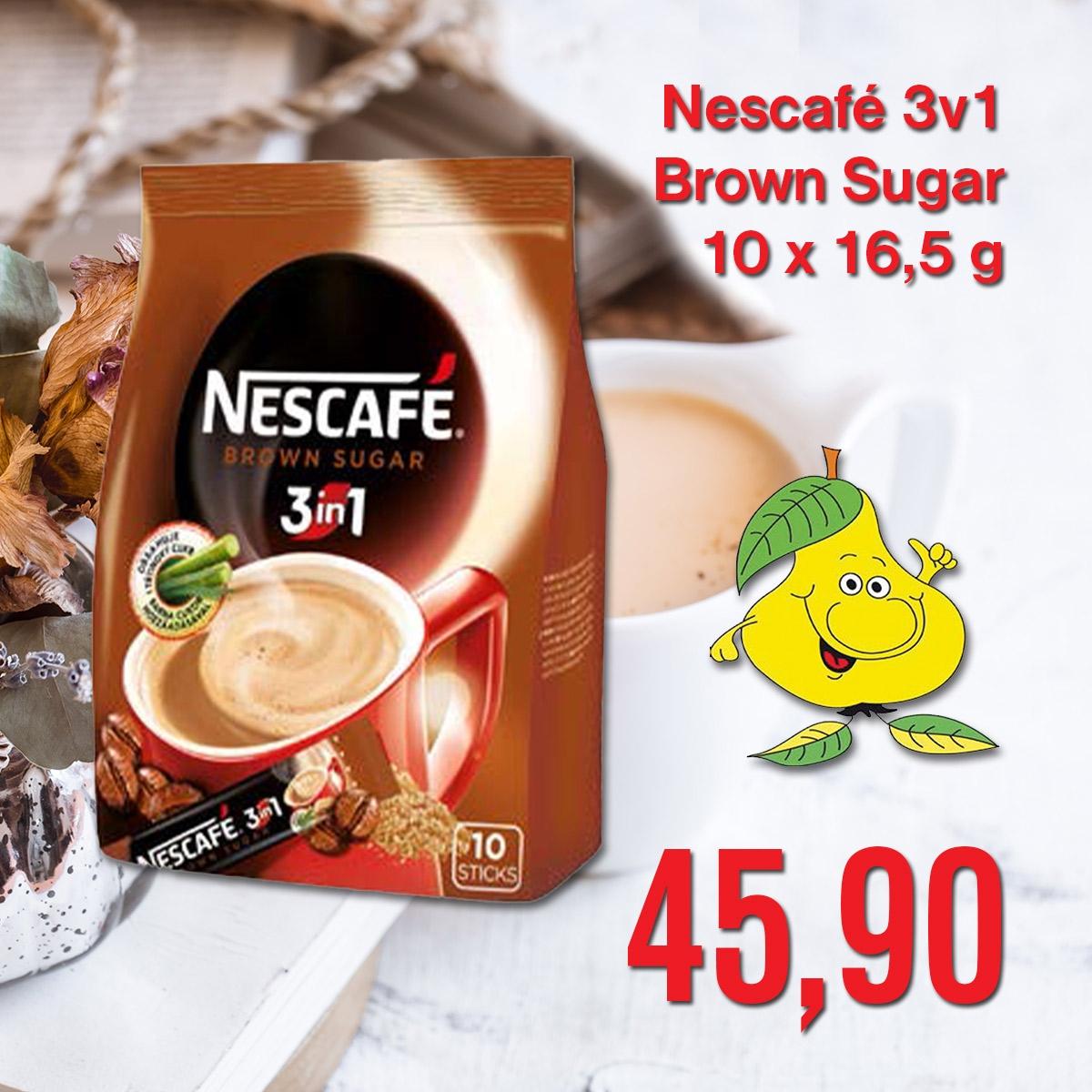 Nescafé 3 v 1 Brown Sugar 10 x 16,5 g