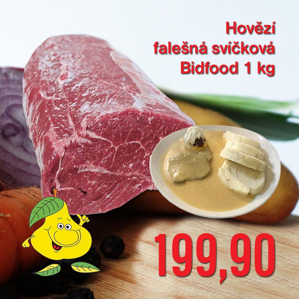 Hovězí falešná svíčková Bidfood 1 kg