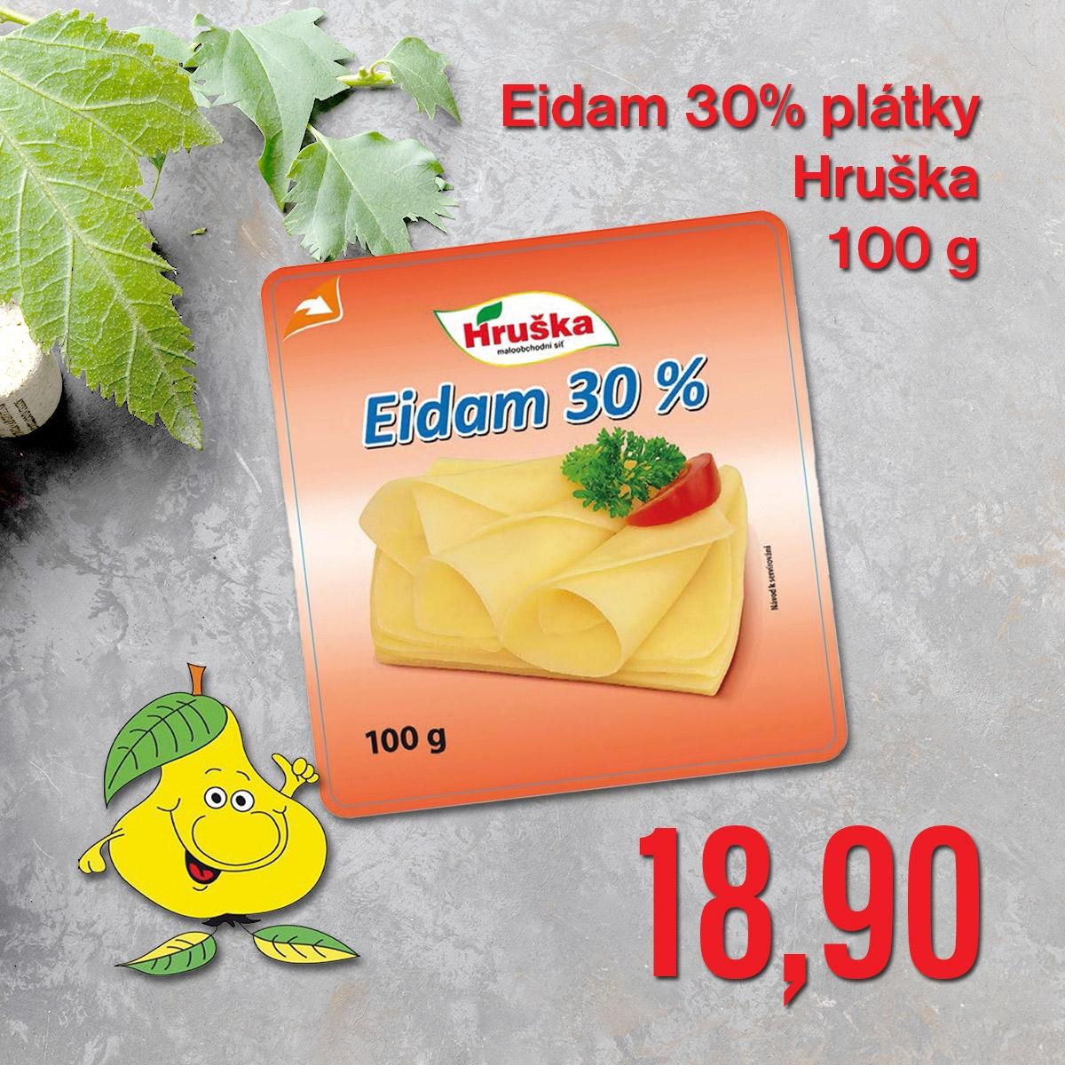 Eidam 30% plátky Hruška 100 g
