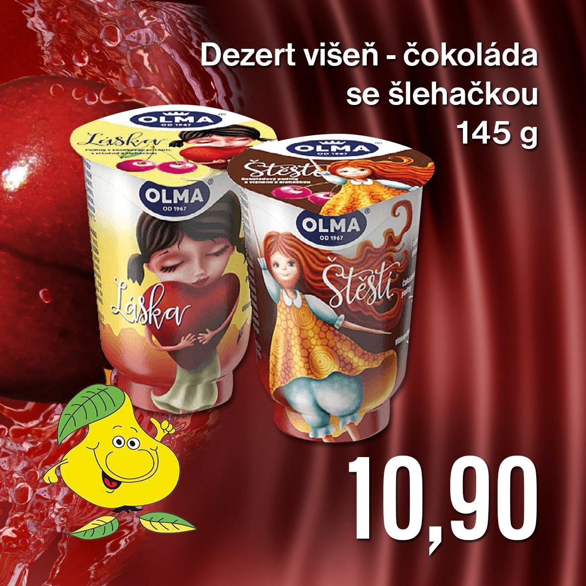 Dezert višeň-čokoláda se šlehačkou 145 g