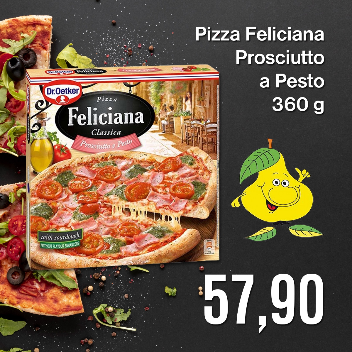 Pizza Feliciana Prosciutto a Pesto 360 g