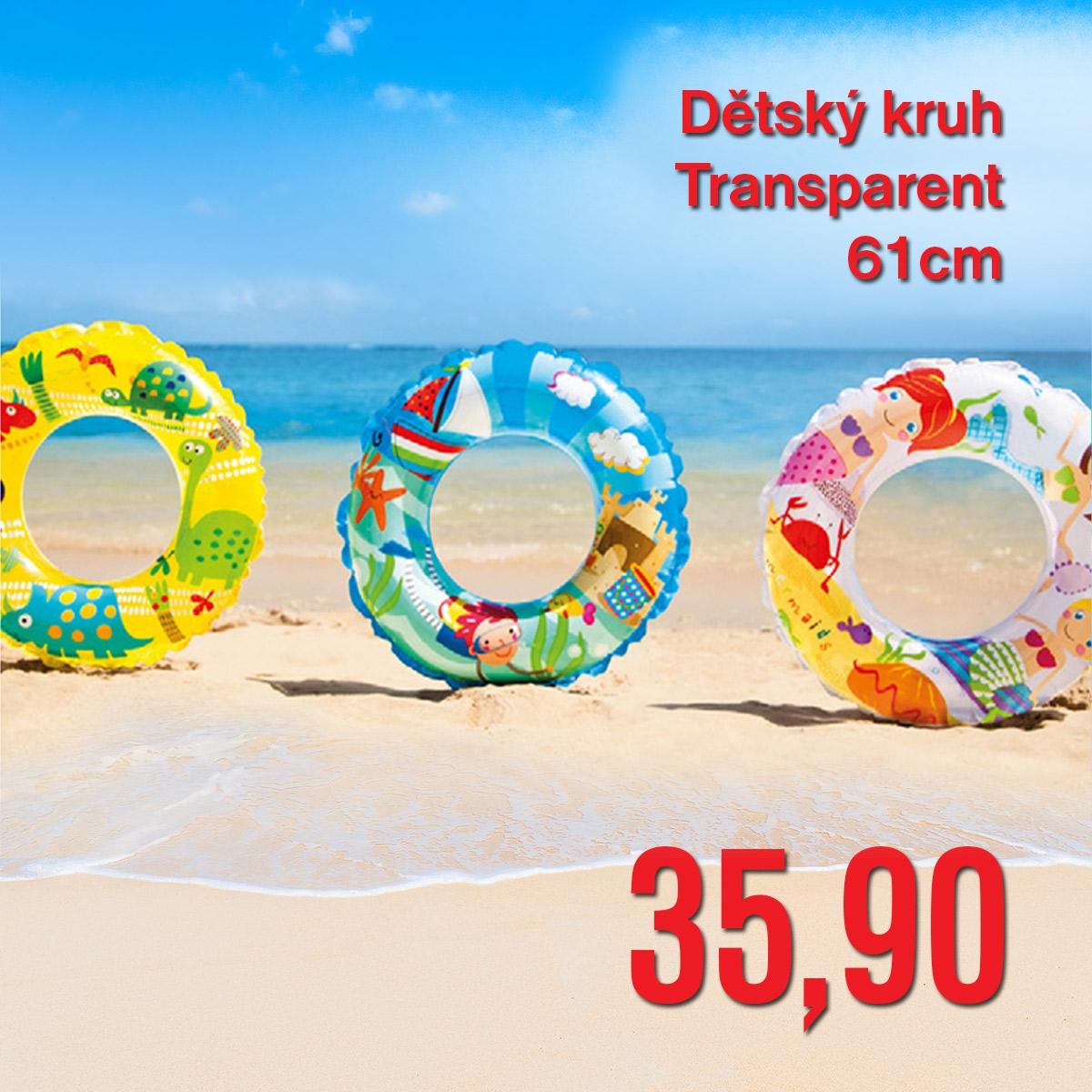 Dětský kruh Transparent 61 cm