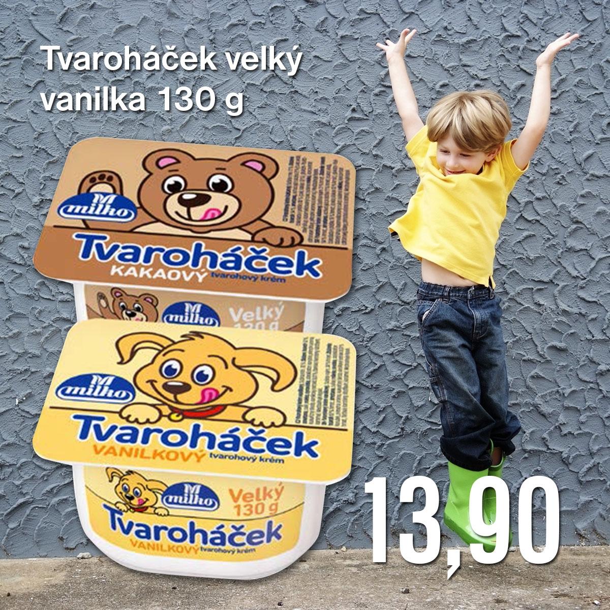 Tvaroháček velký vanilka 130 g