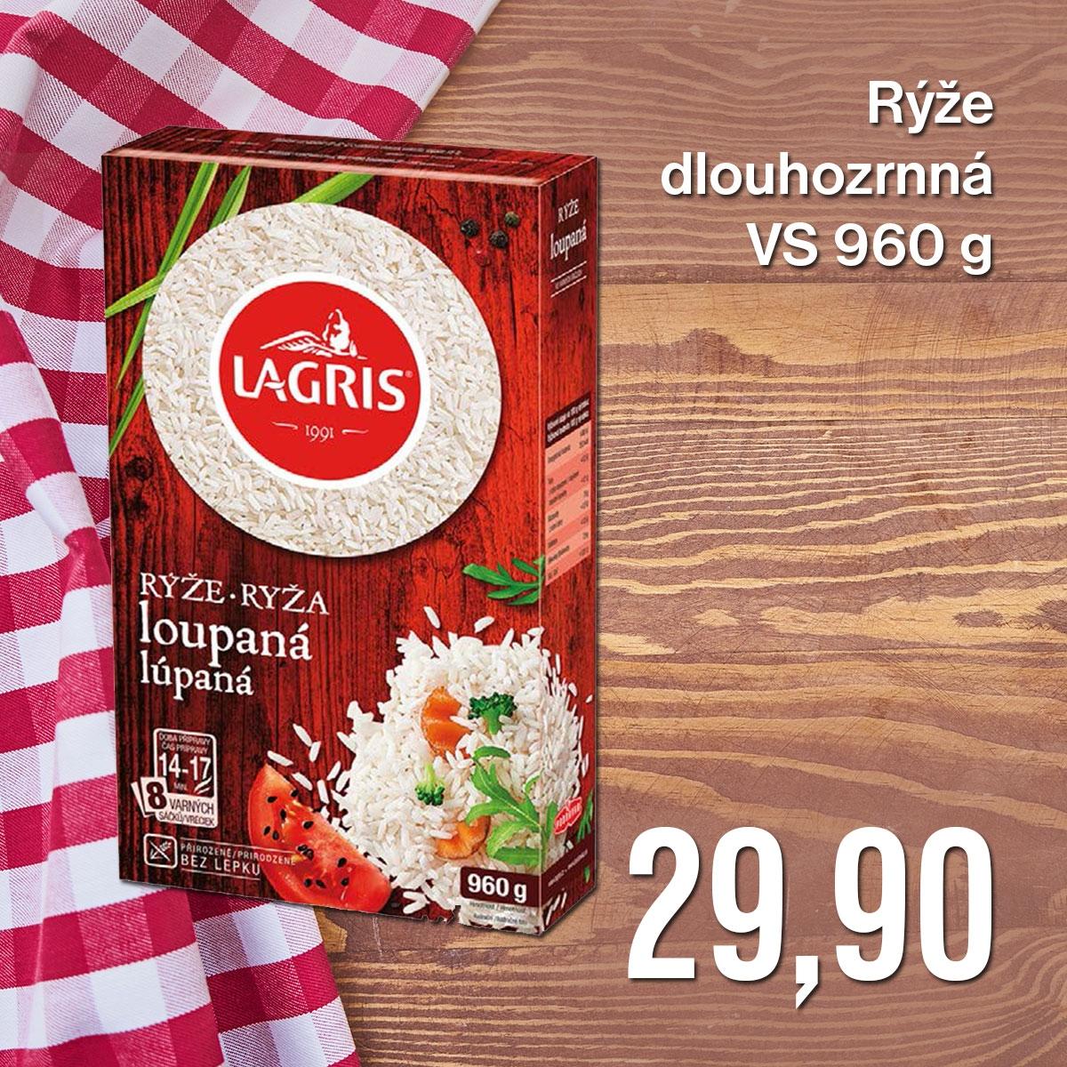 Rýže dlouhozrnná VS 960 g