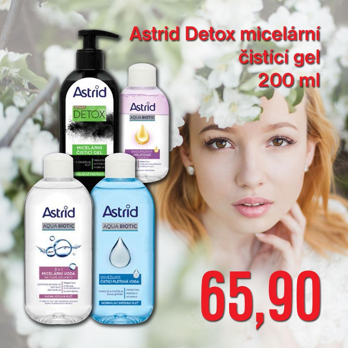 Astrid Detox micelární čistící gel 200 ml