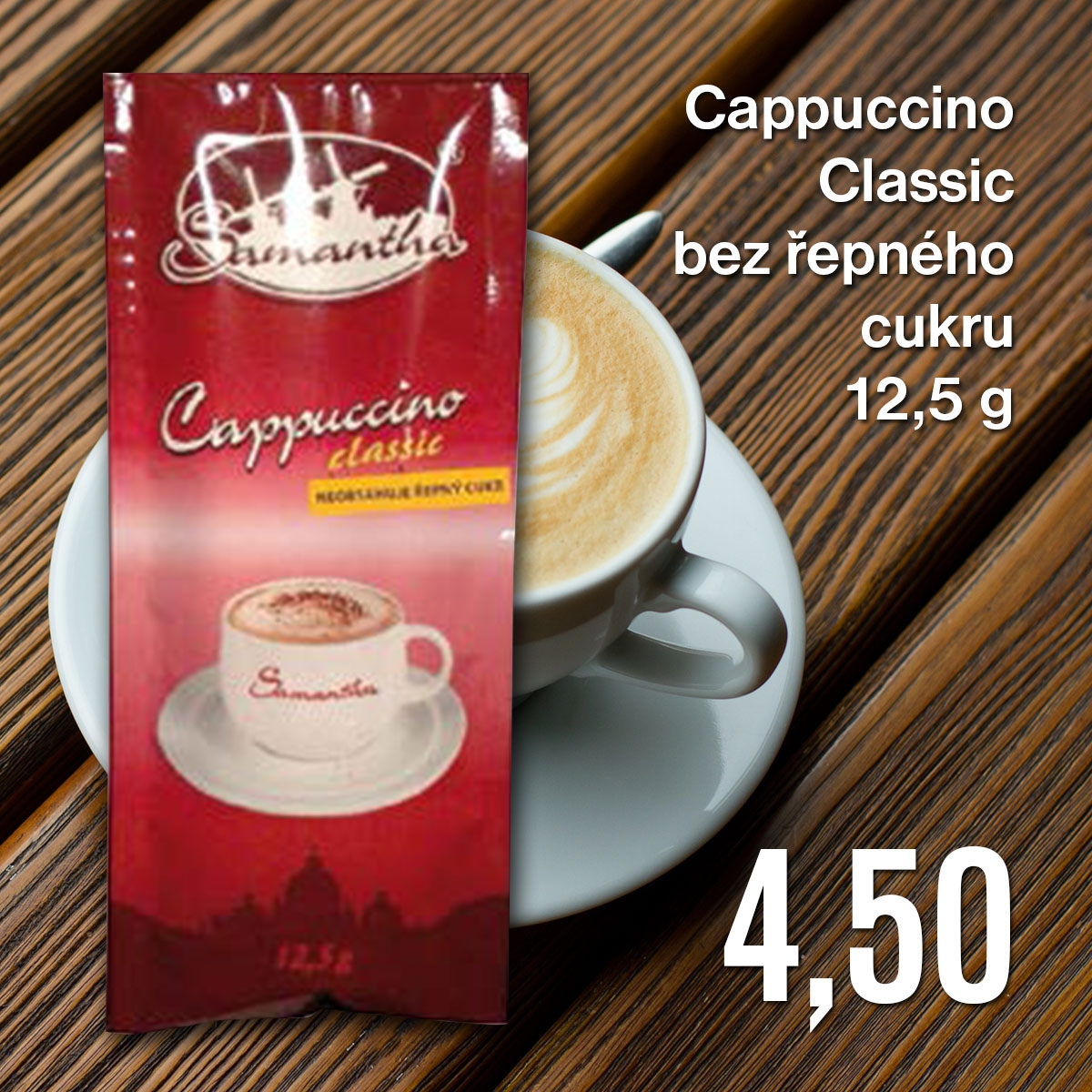 Cappuccino Classic bez řepného cukru 12,5 g