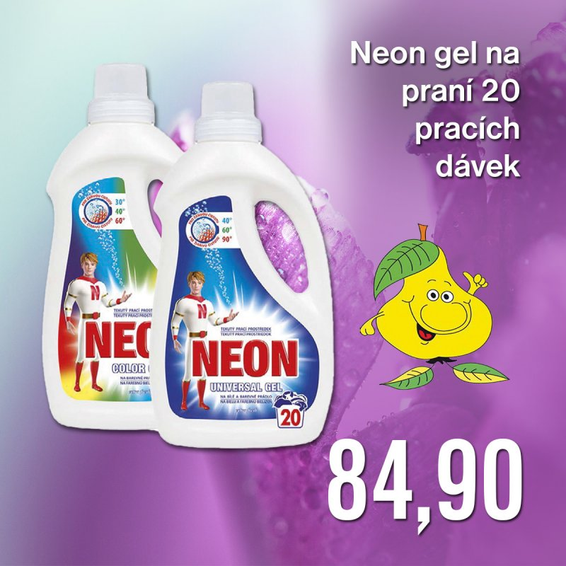 Neon gel na praní 20 pracích dávek